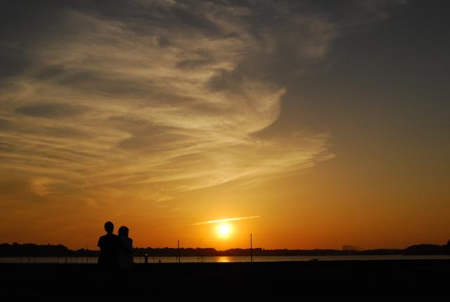 幸せな夕陽